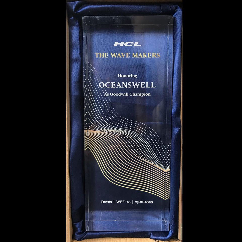 Oceanswell & Dr. Asha de Vos honoured as a Goodwill Champion by HCL Technologies 1